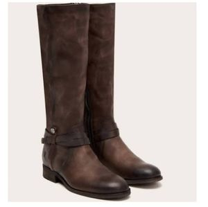 Extended Calf Melissa Belted Tall Stone Boots